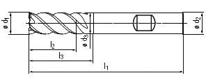 technische Zeichnung Trochoidalfräser VA